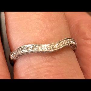 Jewelry - 18K White Gold & Diamond Wedding Band